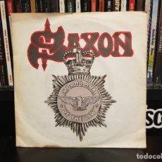 Discos de vinilo: SAXON - STRONG ARM OF THE LAW. Lote 116190107