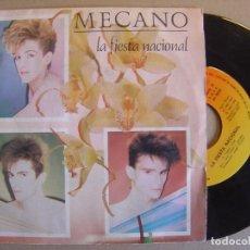 Discos de vinilo: MECANO - LA FIESTA NACIONAL + EL LADRON DE DISCO - SINGLE CBS 1983. Lote 116198879