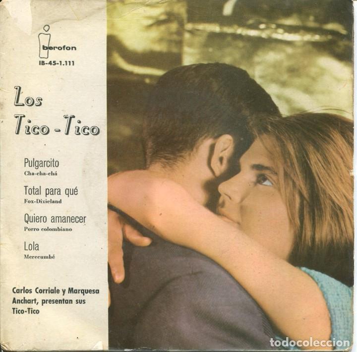 LOS TICO TICO / PULGARCITO + 3 (EP 1961) (Música - Discos de Vinilo - EPs - Grupos Españoles 50 y 60)