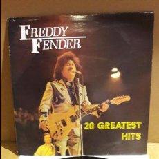 Discos de vinilo: FREDDY FENDER / 20 GREATEST HITS / LP - ASTAN - 1984 / MBC. ***/***. Lote 116205951