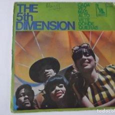 Discos de vinilo: THE 5TH DIMENSION - CADA VEZ MAS ALTO. Lote 116210711