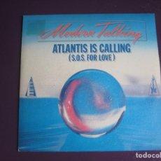 Discos de vinilo: MODERN TALKING SG PROMO ARIOLA 1986 ATLANTIC IS CALLING +1 EURODISCO - SYNTH POP. Lote 116213775