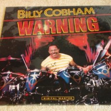 Discos de vinilo: BILLY COBHAM ( WARNING ) USA - 1985 LP33 GRP RECORDS. Lote 116235543