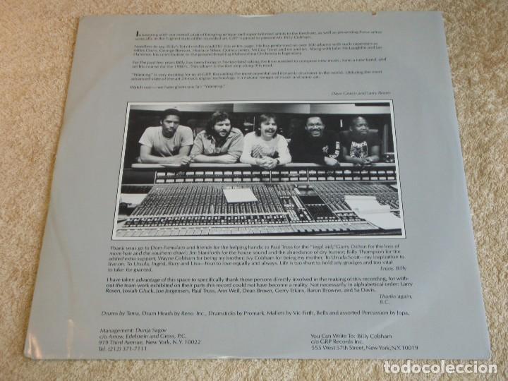 Discos de vinilo: BILLY COBHAM ( WARNING ) USA - 1985 LP33 GRP RECORDS - Foto 4 - 116235543