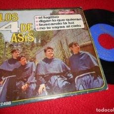 Discos de vinilo: LOS 4 CUATRO DE ASIS EL FUGITIVO/DIGAN LO QUE QUIERAN +2 EP 1966 DISCOPHON XIAN. Lote 116242011