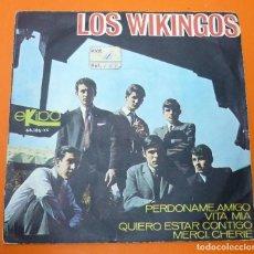 Discos de vinilo: LOS WIKINGOS- PERDÒNAME, AMIGO + 3- EP VINILO- EKIPO 1966. Lote 116247055