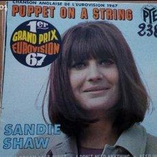 Discos de vinilo: SANDIE SHAW PUPPET ON A STRING EP EUROVISION 1967. Lote 116261507