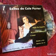 Discos de vinilo: ORQUESTA MARAVELLA DIR. LUIS FERRER - EXITOS DE COLE PORTER - EP SPAIN 1962 - ZAFIRO Z-E 302. Lote 116275179