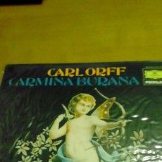 Discos de vinilo: CARMINA BURANA, CARL ORFF LP. Lote 116277079