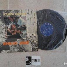Discos de vinilo: EMILIO JOSÉ - CAMPO HERIDO LP BELTER FIRMADO POR EMILIO JOSÉ. Lote 116279863