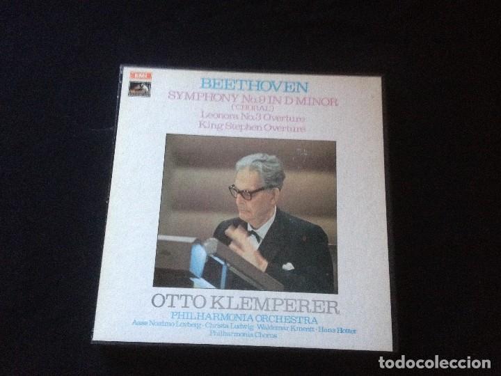 BEETHOVEN SYMPHONY NO 9 OTTO KLEMPERER IN D MINOR.1970 2 LP CON CAJA. (Música - Discos - LP Vinilo - Clásica, Ópera, Zarzuela y Marchas)