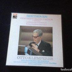 Discos de vinilo: BEETHOVEN SYMPHONY NO 9 OTTO KLEMPERER IN D MINOR.1970 2 LP CON CAJA.. Lote 116295695