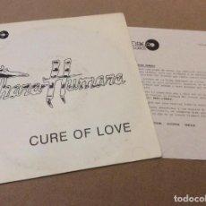Discos de vinilo: THARA HUMARA / CURE OF LOVE + VERSION DUB. 1988. PROMOCIONAL CON HOJA DISCOGRAFICA. Lote 116297043