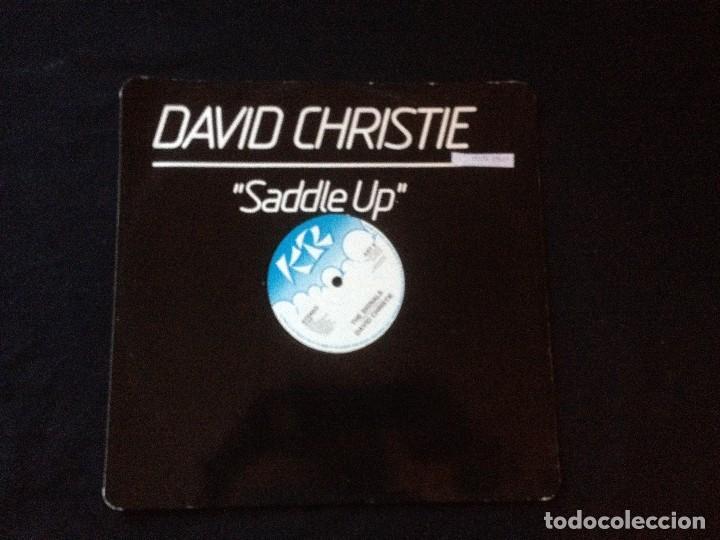 DAVID CHRISTIE ?– SADDLE UP. 1982 (Música - Discos de Vinilo - Maxi Singles - Disco y Dance)