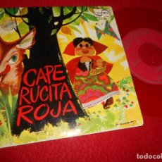 Discos de vinilo: CAPERUCITA ROJA TEATRO INVISIBLE RADIO NACIONAL BARCELONA EP 1967 ZAFIRO VINILO ROJO MANZANO PORTADA. Lote 116301451