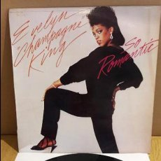 Discos de vinilo: EVELYN CHAMPAGNE KING / SO ROMANTIC / LP - RCA-VICTOR - 1984 / MBC. ***/***. Lote 116334627