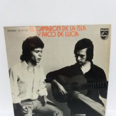 Discos de vinil: EP ** CAMARON Y PACO DE LUCIA ** NO QUISIERA QUE TE FUERAS ** COVER/ NM / MINT **EP/ EXCELLENT / NM. Lote 164908821