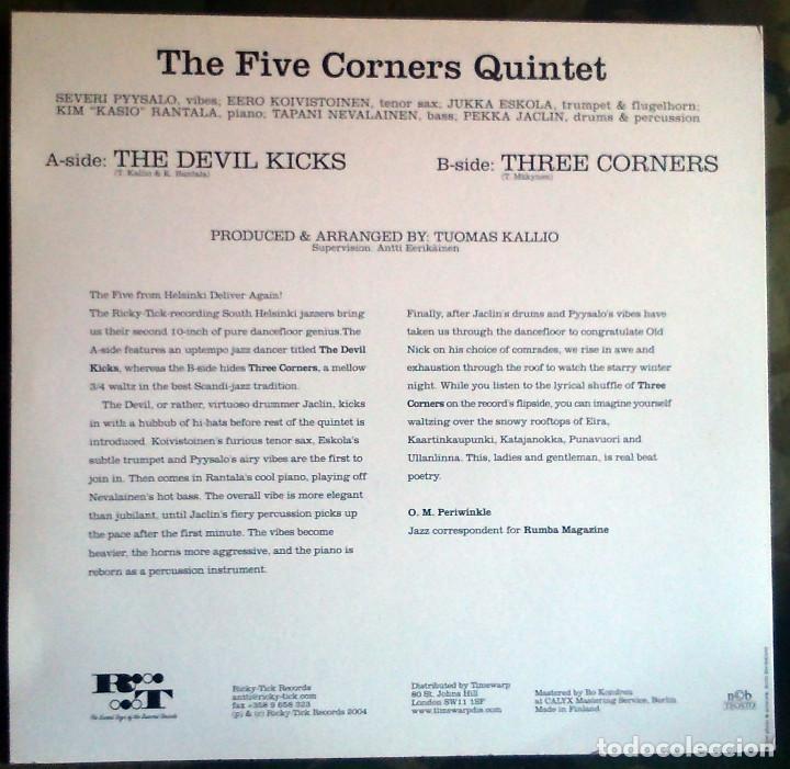 Discos de vinilo: The Five Corners Quintet – The Devil Kicks / Three Corners Finland 2004 Jazz 10 pulgadas - Foto 2 - 116339447