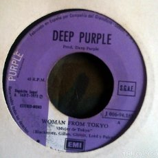 Discos de vinilo: DEEP PURPLE – WOMAN FROM TOKYO SPAIN 1973 SIN PORTADA. Lote 116339703
