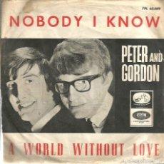 Discos de vinilo: SG PETER AND GORDON : CANTAN 2 TEMAS ORIGINALES DE THE BEATLES ( LENNON & MCCARTNEY ). Lote 116340499