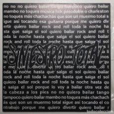Discos de vinilo: SINIESTRO TOTAL  QUIERO BAILAR ROCKNROLL DRO  1D-309 SINGLE PROMOCIONAL, NUEVO, SIN REPRODUCIR!!. Lote 116378903