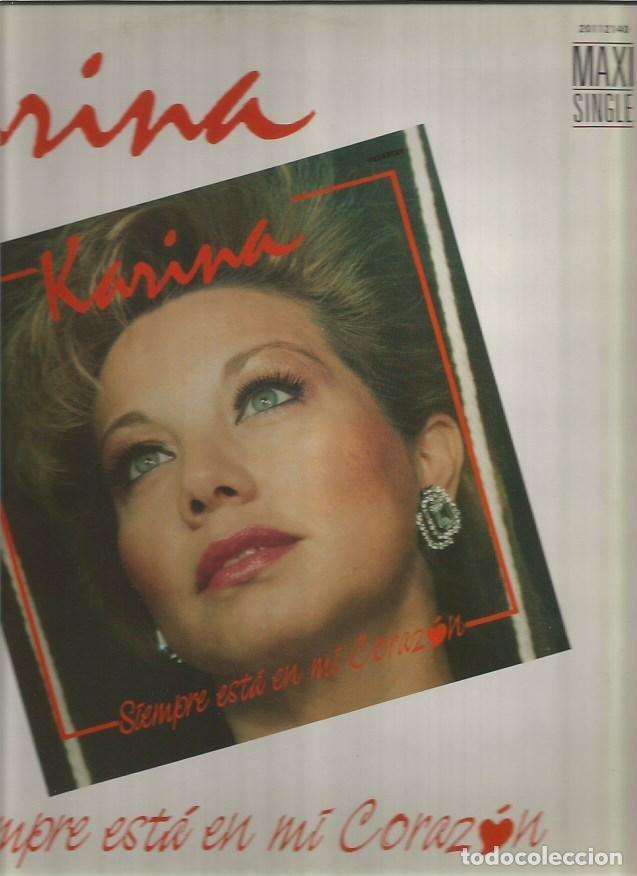 KARINA MAXI-SINGLE SELLO TUBOESCAPE EDITADO EN ESPAÑA AÑO 1987 (Música - Discos de Vinilo - Maxi Singles - Solistas Españoles de los 70 a la actualidad)