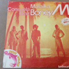 Discos de vinilo: BONEY M. - MALAIKA / CONSUELA BIAZ. 1981.. Lote 116415431