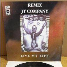 Discos de vinilo: JT COMPANY / LIVE MY LIFE / MAXI-SG - CONTRASEÑA RECORDS - 1994 / MBC. ***/***. Lote 116418055
