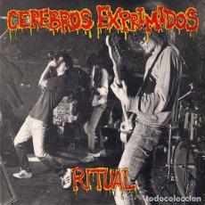 Discos de vinilo: CEREBROS EXPRIMIDOS: RITUAL + MOTORHEAD + THE BITCH + NO VALUES. Lote 116420939