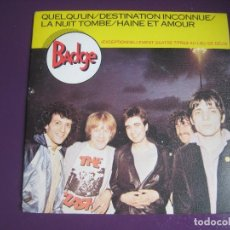 Disques de vinyle: BADGE EP CARRERE 1981 QUELQU'UN +3 POP PUNK . NEW WAVE FRANCIA . Lote 116437623