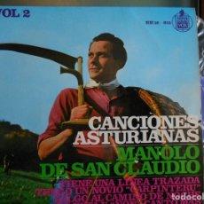 Discos de vinilo: MANOLO DE SAN CLAUDIO ,VOL 2- TIENE UNA LINEA TRAZADA +3.. Lote 116440051