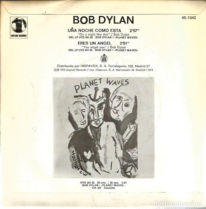 Discos de vinilo: SG BOB DYLAN : UNA NOCHE COMO ESTA - Foto 2 - 116442603