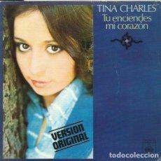 Discos de vinilo: TINA CHARLES. SINGLE. SELLO CBS. EDITADO EN ESPAÑA. AÑO 1975. Lote 116445907