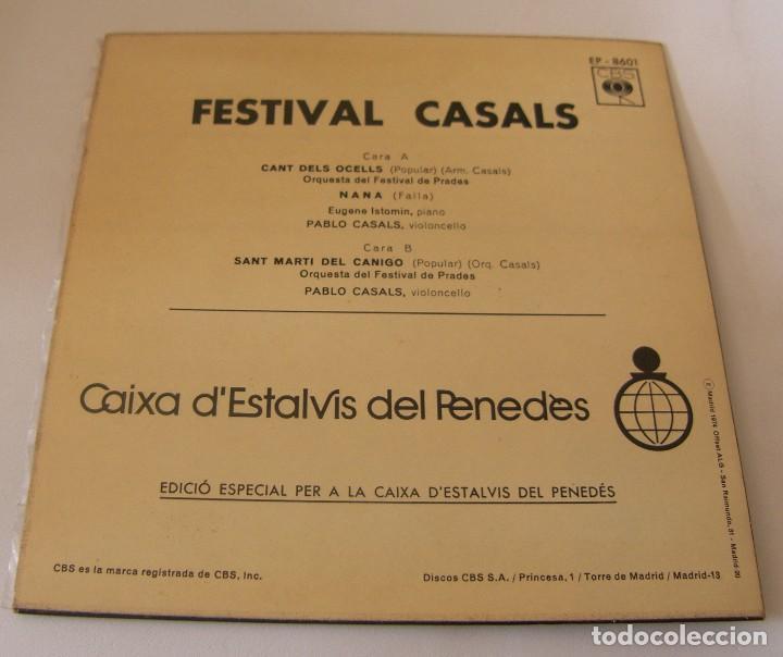 Discos de vinilo: FESTIVAL CASALS - EL CANT DELS OCELLS - NANA - ST MARTI DEL CANIGO - 1967 - Foto 2 - 116452543