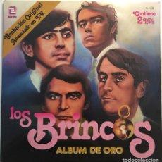 Discos de vinilo: LOS BRINCOS  ALBUM DE ORO ZAFIRO ZN-402, 2 × LP,VINILOS EXCELENTES, CARPETA ABIERTA. Lote 116462803