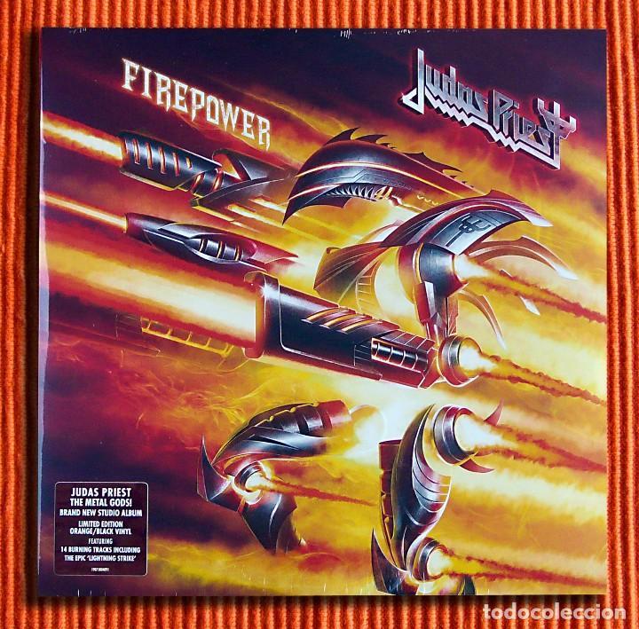 Discos de vinilo: JUDAS PRIEST - FIREPOWER Edición Ltd Exclusiva 2LP Vinilo Naranja y Negro Nuevo y Precintado - Foto 2 - 116465463