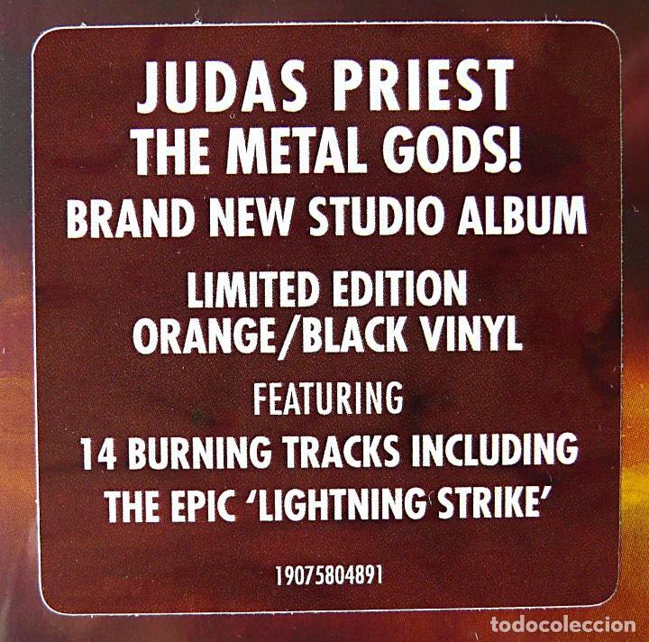 Discos de vinilo: JUDAS PRIEST - FIREPOWER Edición Ltd Exclusiva 2LP Vinilo Naranja y Negro Nuevo y Precintado - Foto 4 - 116465463