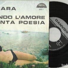 Disques de vinyle: SAN REMO 1969 SINGLE CHRISTIAN - ZINGARA / ROBBY - QUANDO L'AMORE DIVENTA POESIA .SUIZA. Lote 116470235