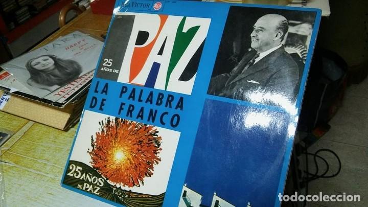 LA PALABRA DE FRANCO, 25 AÑOS DE PAZ. DISCO DE VINILO LP EN PERFECTO ESTADO. RAREZA (Música - Discos - LP Vinilo - Otros estilos)