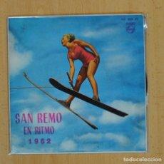Discos de vinilo: TULLIO GALLO, SU ORQUESTA Y COROS - SAN REMO EN RITMO 1962 - QUANDO, QUANDO, QUANDO + 3 - EP. Lote 116473283