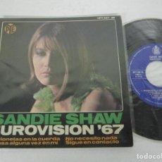 Discos de vinilo: SANDIE SHAW - EUROVISION 67 - MARIONETAS EN LA CUERDA + 3 - EP - HISPAVOX 1967 SPAIN. Lote 116480815