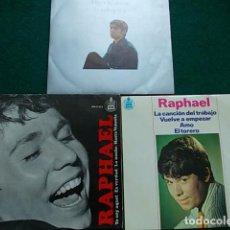 Discos de vinilo: LOTE SINGLE RAPHAEL . Lote 116516303