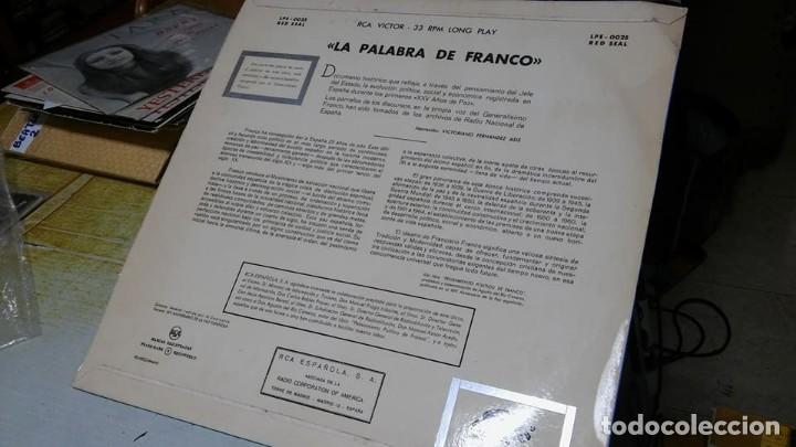Discos de vinilo: La palabra de Franco, 25 años de paz. Disco de vinilo LP en PERFECTO ESTADO. Rareza - Foto 2 - 116472251