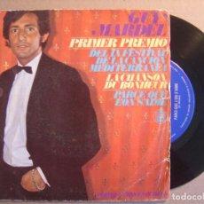 Discos de vinilo: GUY MARDEL - PRIMER PREMIO DEL IX FESTIVAL DE LA CANCION MEDITERRANEA - CHANSON.. - SINGLE 1967 - HI. Lote 116530931