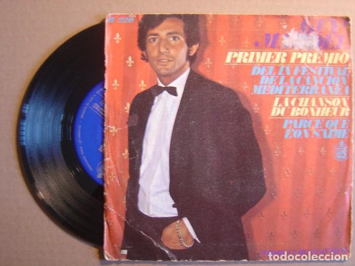 Discos de vinilo: GUY MARDEL - Primer Premio del IX Festival de la Cancion Mediterranea - Chanson.. - SINGLE 1967 - HI - Foto 2 - 116530931
