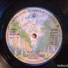 Discos de vinilo: GEORGE BAKER SELECTION - PALOMA BLANCA + DREAMBOAT - SINGLE UK 1975 - WARNER. Lote 116532151