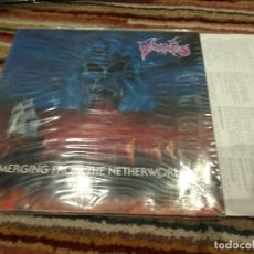 Discos de vinilo: LP ORIG. GERMANY 1990 THANATOS EMERGING FROM THE NETHERWORLDS BUEN ESTADO. MUY BUEN SONIDO. Lote 116545487