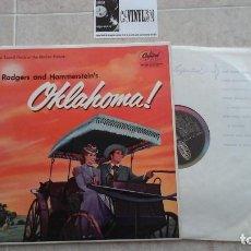 Discos de vinilo: RODGERS & HAMMERSTEIN – OKLAHOMA! LP CAPITOL RECORDS – LCT 6100 EDICIÓN UK. Lote 116567987