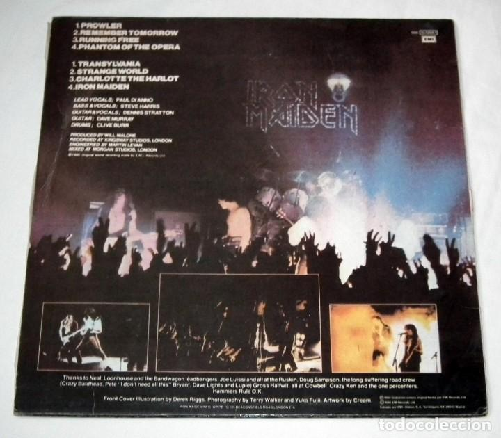Discos de vinilo: LP IRON MAIDEN - IRON MAIDEN - Foto 2 - 116585839