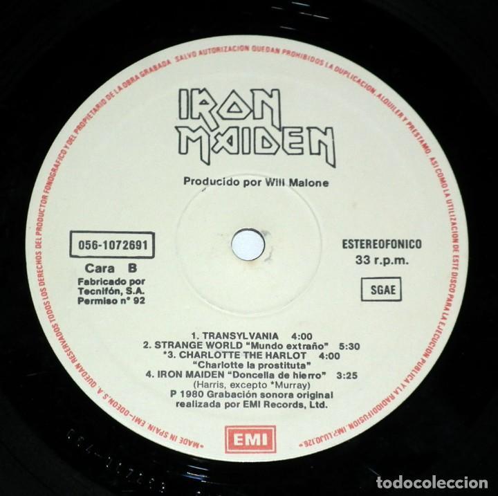Discos de vinilo: LP IRON MAIDEN - IRON MAIDEN - Foto 5 - 116585839
